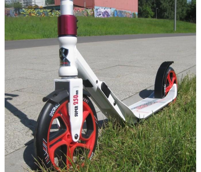 Самокат Trojan Explore с огромными колесами для взрослых (белый)