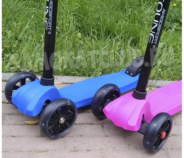 Детский трехколесный самокат Explore Sigma Maxi 2018 для детей от 3-10 лет