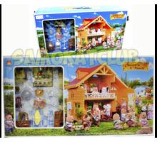 Уютный домик Happy family с животными и мебелью