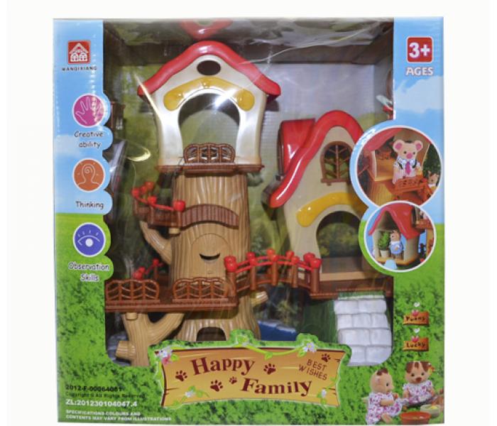 Игрушечный домик с животными Happy family
