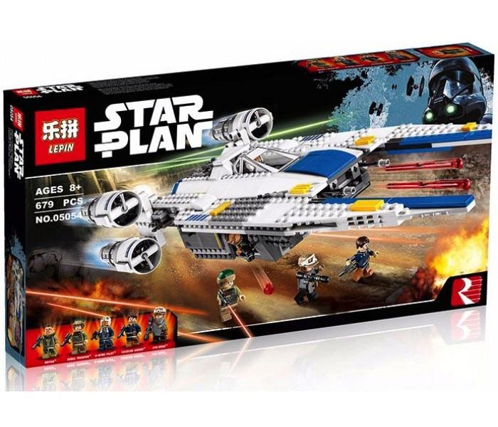 Конструктор Lepin 05054 Истребитель Повстанцев U-Wing (аналог LEGO 75155), 689 деталей