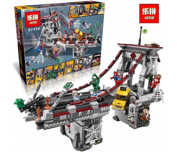 Конструктор Lepin 07038 Последний бой воинов паутины 1165 деталей (аналог LEGO 76057)
