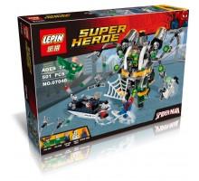 """Конструктор Super Heroes """"В ловушке Доктора Осьминога"""" 501 деталь, LEPIN 07040"""