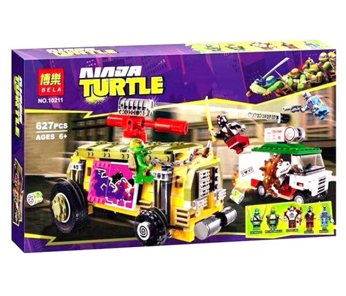Конструктор Bela 10211 аналог LEGO 79104 Черепашки-ниндзя ''Преследование на грузовике Черепашек''