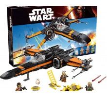"""Конструктор Star Wars """"Истребитель По - X-Wing"""" Bela 10466 (аналог Лего 75102)"""