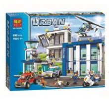 """Конструктор Bela 10424 """"Полицейский участок"""", 890 деталей  (аналог LEGO City 60047)"""