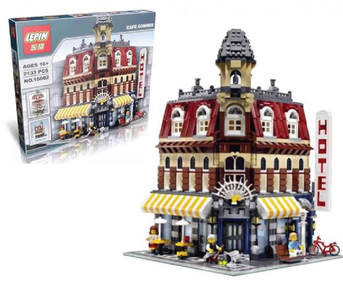 """Конструктор Lepin 15002 """"Кафе на углу"""" (аналог LEGO Creators 10182), 2133 детали"""