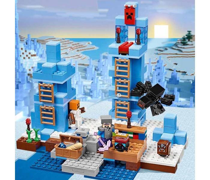 """Конструктор Minecraft """"Ледяные шипы"""" 386 деталей, LEPIN 18025 386 деталей"""