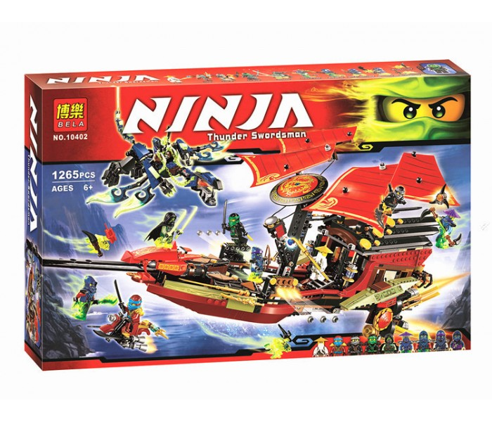 """Конструктор Bela Ниньзяго Ninja """"Корабль Дар Судьбы"""" Решающая битва 10402"""