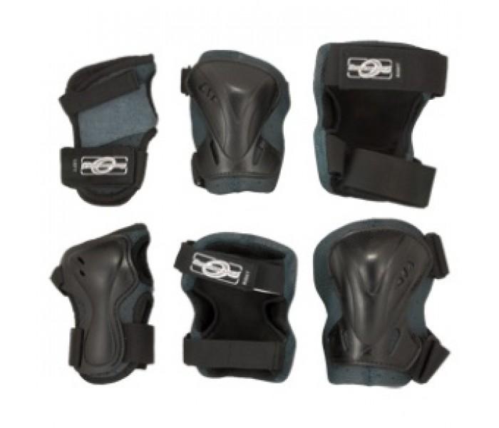 Комплект защиты для катания. Черный цвет. М