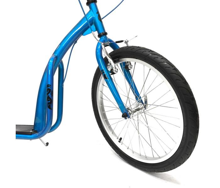 """Самокат с большими надувными колесами OLIMP 20/16"""" синий"""