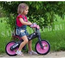 Беговел детский BELLELLI B-BIP, цвет: чёрно-розовый
