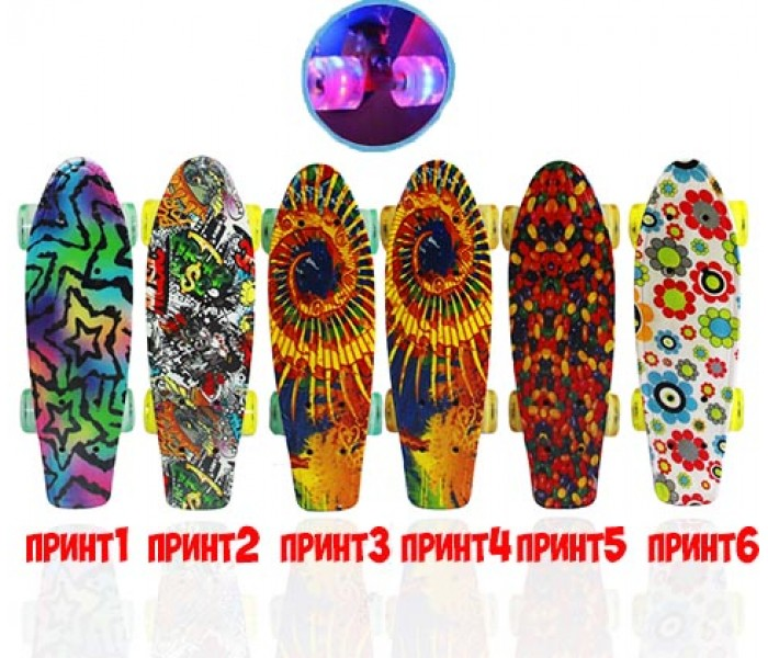"Скейтборд Explore MINOR New 17"" (2017) светящиеся колеса"