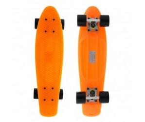 """Мини-круизер FISH 22"""" оранжевый с черными колесами"""