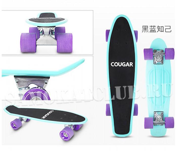 """Скейтборд COUGAR 22"""" MINT с цветным принтом"""