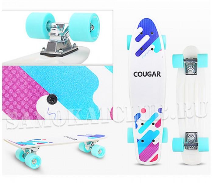 """Скейтборд COUGAR 22"""" с цветным принтом"""