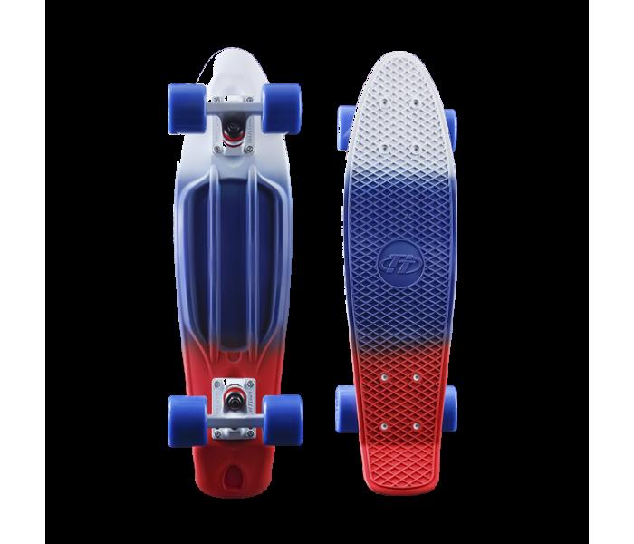 """Мини-круизер 22"""" Tech Team TRIKOLOR PATRIOT (2017). Сумка для скейта в подарок!"""