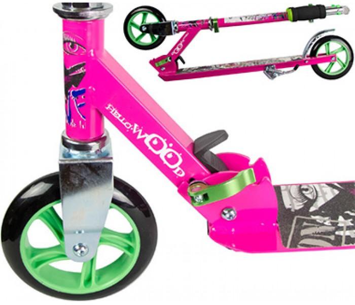 Розовый самокат для девочек с колесами 145мм