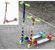 3-х колесный самокат Techteam для детей от 3-6 лет со светящимися колесами