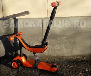 Детский самокат-каталка GENIUS 2017 оранжевый