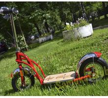Детский самокат OLD CLASSIC  с большими надувными колесами