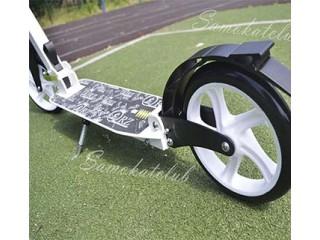 Самокат для взрослых с 2-мя амортизаторами и большими колесами