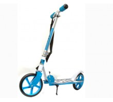 Складной самокат для города с большими колесами (голубой)