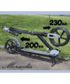 Самокат для взрослых Mersedes (Мерседес) с колесами 230 и 200мм!