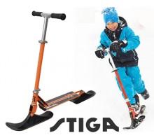 Снежный самокат STIGA Bike Snow Kick с лыжами