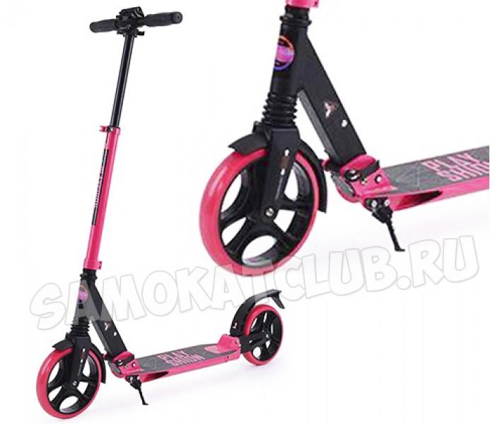 Самокат для девушки с большими колесами Playshion (розовый)