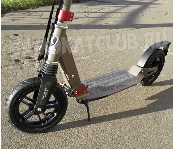 Самокат Explore (Хаки) с надувными колесами и амортизаторами
