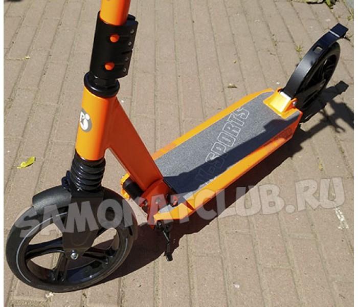 Cамокат для взрослых X-Sport с амортизаторами и газовым доводчиком системы складывания