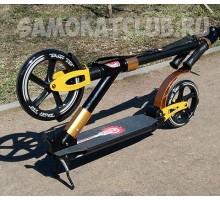 ORZ 230-200 Золотой самокат для взрослых с 2-мя амортизаторами