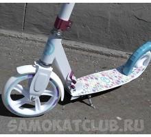 Cамокат для девушек с большими колесами 200мм MINT