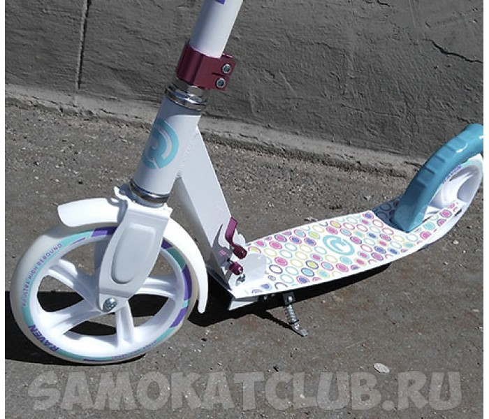 Cамокат MOVE для девушек с большими колесами 200мм (белый)