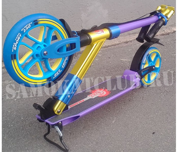 Самокат ORZ 230-200А фиолетовый с большими колесами 230 и 200мм!