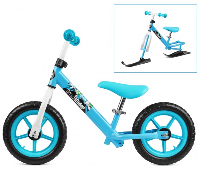 Зимний беговел (лыжи и колеса) 2в1 Combo Racer blue