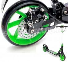 Triumf Active городской самокат с дисковым тормозом (зеленый)