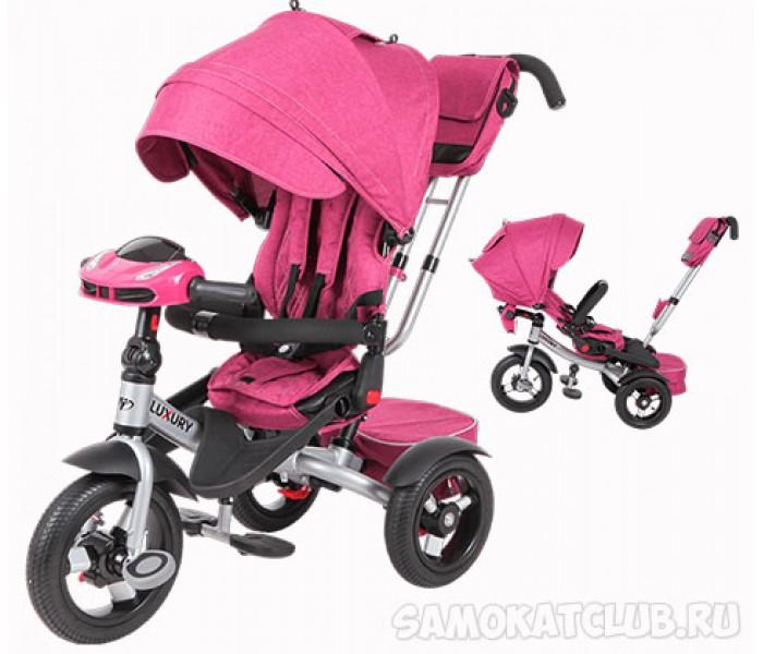 Трехколесный велосипед-коляска TT LUXURY 2018 с музыкой (розовый)
