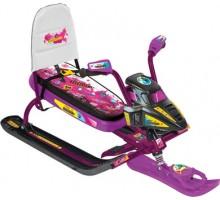 Снегокат-снегоцикл для девочек с автоматической лебедкой