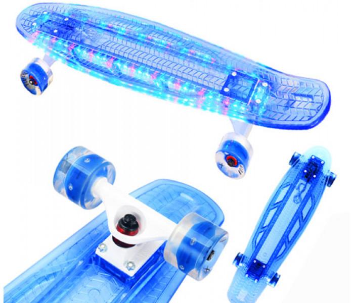 """Круизер Playshion Diamond 27"""" светящиеся доска и колеса (синий)"""