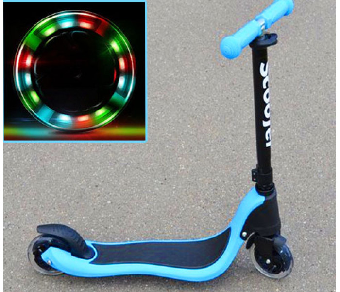Cамокат двухколесный Scooter 125мм для детей. Светятся колеса