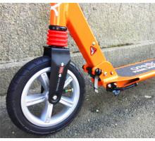 Cамокат ATEOX PRIME 300 оранжевый с надувными колесами
