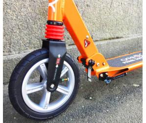 Cамокат ATEOX PRIME 300 оранжевый с надувными колесами + ПОДАРОК