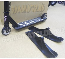 Ateox Vice PRO (черный) 2в1 трюковой самокат с лыжами и колесами