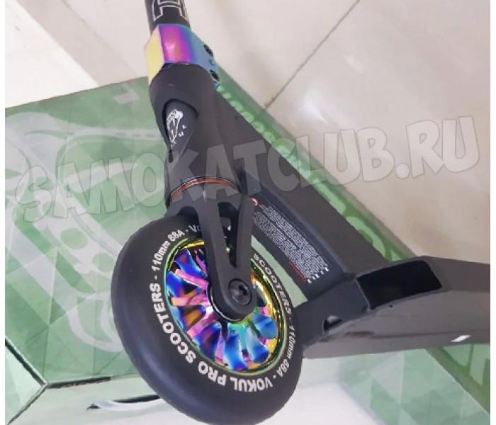 Трюковой самокат VOKUL SAGA 2020 (Black/Neo chrome)