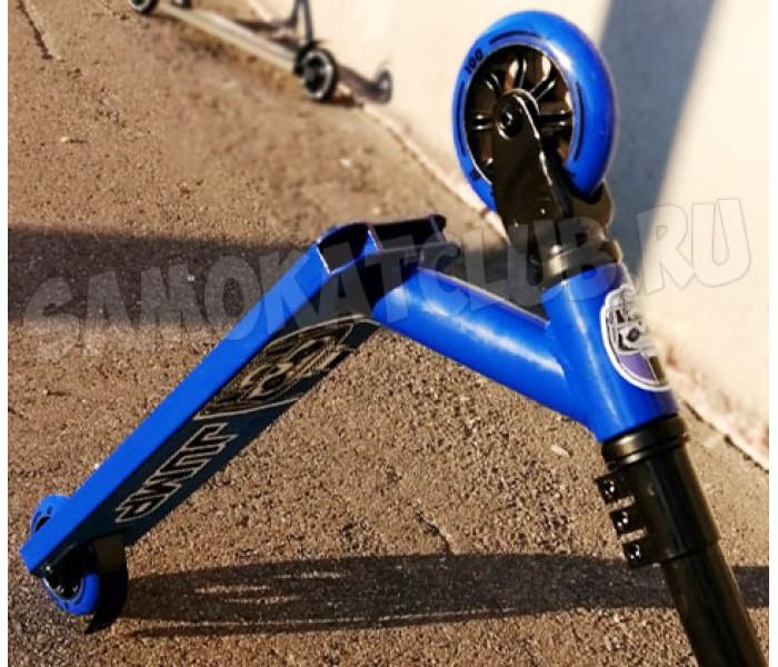 Самокат трюковой для детей Ateox JUMP с прямым рулем (синий)