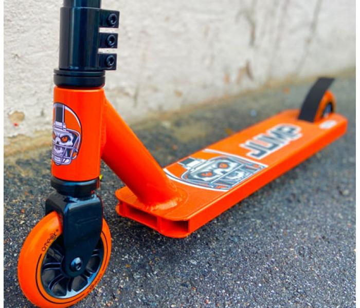 Самокат трюковой ATEOX JUMP 2021г черно-оранжевый