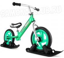 Combo Drift - Беговел с лыжами и колесами Small Rider Foot Racer EVA (аква) легкий