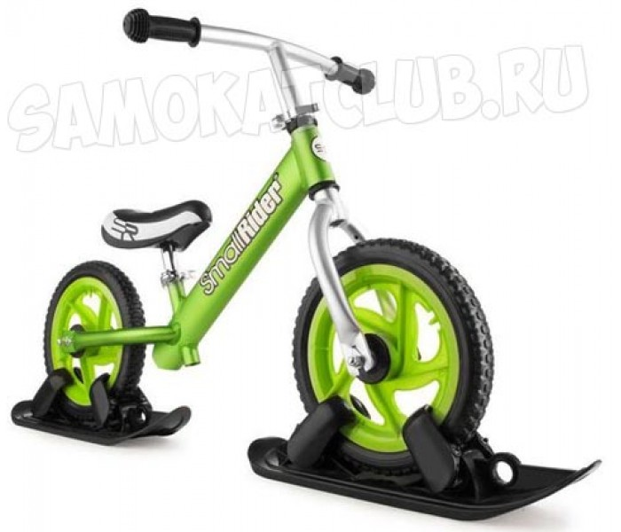 Беговел с лыжами и колесами Small Rider Foot Racer EVA Combo Drift (зеленый)